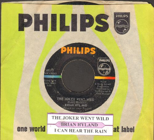 Hyland, Brian - The Joker Went Wild/I Can Hear The Rain (with juke box label Philips company sleeve) - EX8/ - 45 rpm Records