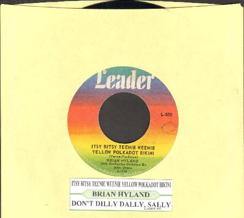Hyland, Brian - Itsy Bitsy Teenie Weenie Yellow Polkadot Bikini/Don't Dilly Dally, Sally (Original first issue with juke box label) - VG7/ - 45 rpm Records