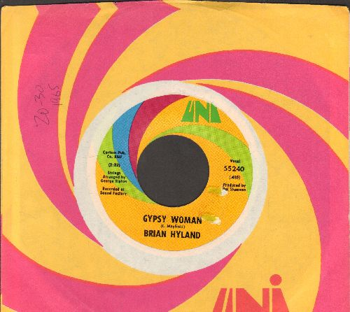 Hyland, Brian - Gypsy Woman/You And Me #2 (with Uni company sleeve) - NM9/ - 45 rpm Records