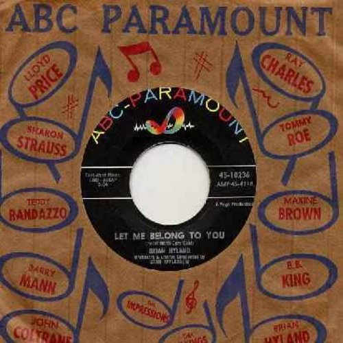 Hyland, Brian - Let Me Belong To You/Let It Die! (with ABC-Paramount company sleeve) - EX8/ - 45 rpm Records