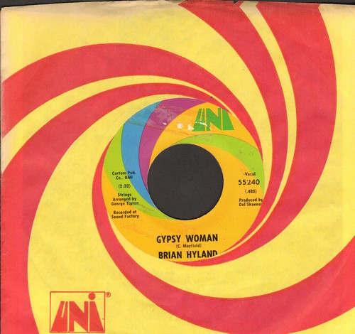 Hyland, Brian - Gypsy Woman/You And Me #2 (with Uni company sleeve) - EX8/ - 45 rpm Records