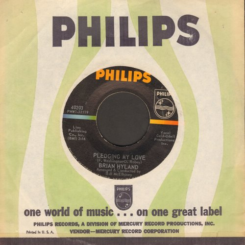 Hyland, Brian - Pledging My Love/Devoted To You (with Philips company) - NM9/ - 45 rpm Records