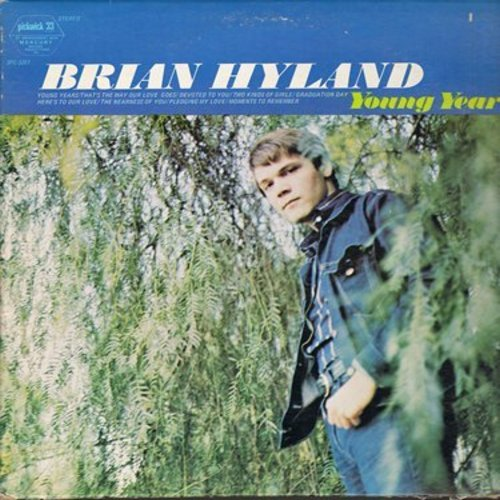 Hyland, Brian - Young Years: Pledging My Love, Graduation Day, Devoted To You, Two Kinds Of Girls (Vinyl STEREO LP record, re-issue of vintage recordings) - EX8/VG7 - LP Records
