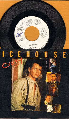 Icehouse - Crazy/No Promises (LIVE) (with picture sleeve) - NM9/NM9 - 45 rpm Records