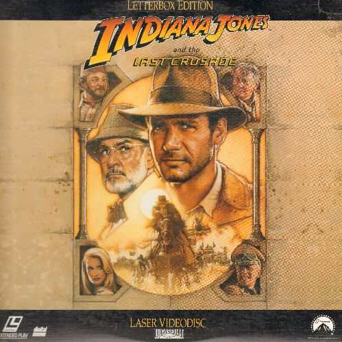 Indiana Jones - Indiana Jones and the Last Crusade - The Action Classic starring Harrison Ford on 2 LASERDISCS, gate-fold cover - NM9/EX8 - LaserDiscs