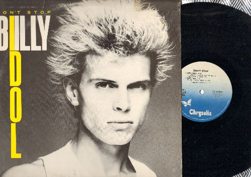 Idol, Billy - Don't Stop: Mony Mony (5:00)/Baby Talk ((3:10)/Untouchables ((3:36)/Dancing With Myself (4:50) (12 inch vinyl Maxi Single with picture cover, DJ advance pressing) - EX8/VG7 - Maxi Singles