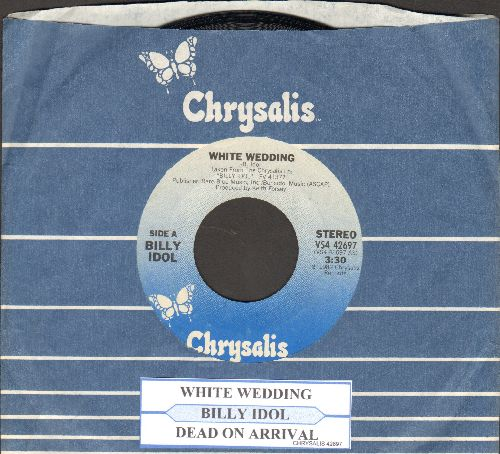 Idol, Billy - White Wedding/Dead On Arrival (with juke box label and Chrysalis company sleeve) - NM9/ - 45 rpm Records