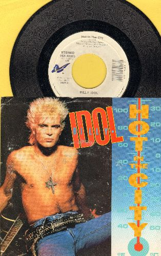 Idol, Billy - Hot In The City/Catch My Fall (LIVE) (with picture sleeve) - EX8/EX8 - 45 rpm Records