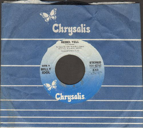Idol, Billy - Rebel Yell/Crank Call (with Chrysalis company sleeve) - EX8/ - 45 rpm Records