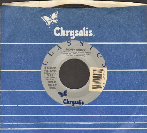 Idol, Billy - Hot In The City/Mony Mony (early double-hit re-issue with Chrysalis company sleeve) - VG7/ - 45 rpm Records