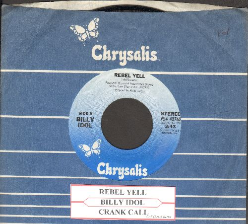 Idol, Billy - Rebel Yell/Cxrank Call (with Cgrysalis company sleeve and juke box label)) - NM9/ - 45 rpm Records
