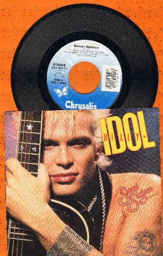 Idol, Billy - Sweet Sixteen/Beyond Belief (with picture sleeve) - NM9/EX8 - 45 rpm Records