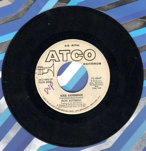 Iron Butterfly - Soul Experience/In The Crowds (DJ advance pressing) (minor wol) - EX8/ - 45 rpm Records