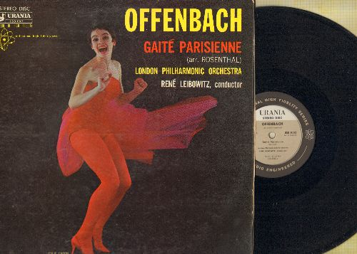 London Philharmonic Orchestra - Offenbach Gaite Parisienne (arr. Rosenthal) - Rene Leibowitz conducts (Vinyl STEREO LP record) - NM9/EX8 - LP Records