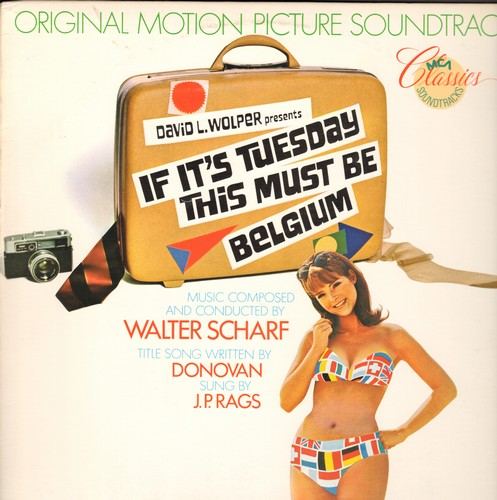 If It's Tuesday This Must Be Belgium - If It's Tuesday This Must Be Belgium - Original Motion Picture Soundtrack featuring Title song by Donovan (Vinyl MONO LP record, re-issue of vintage recordings) - NM9/NM9 - LP Records