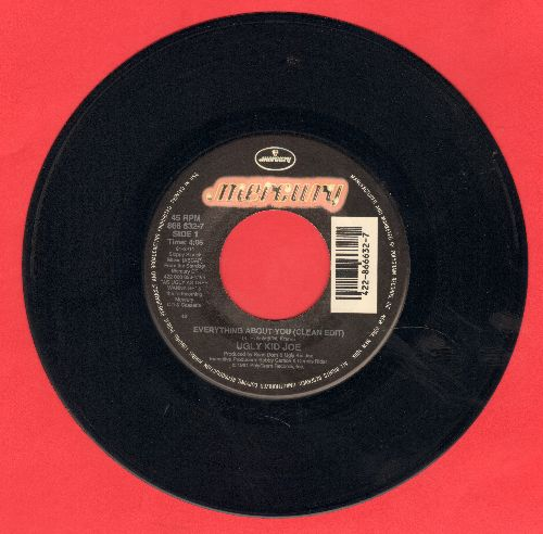 Ugly Kid Joe - Everything About You (clean version) - VG7/ - 45 rpm Records