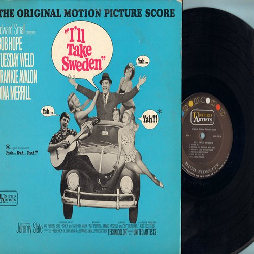 Avalon, Frankie, Bob Hope, Tuesday Weld - I'll Take Sweden - Original Motion Picture Score - Includes Title song by Frankie Avalon (Vinyl MONO LP record) - NM9/VG7 - LP Records