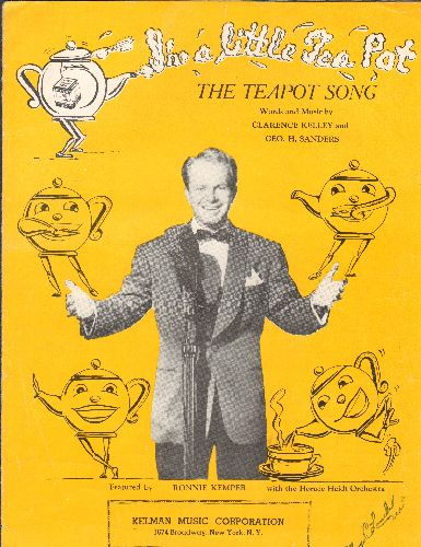 Kemper, Ronnie - The Teapot Song - Vintage SHEET MUSIC for the Children's Classic (adorable cover art!) - EX8/ - Sheet Music