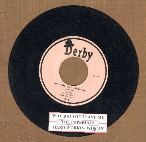 Impalas - Why Did You Leave Me/Hard Workin' Woman (authentic-looking re-issue of vintage Doo-Wop classic with juke box label) - NM9/ - 45 rpm Records