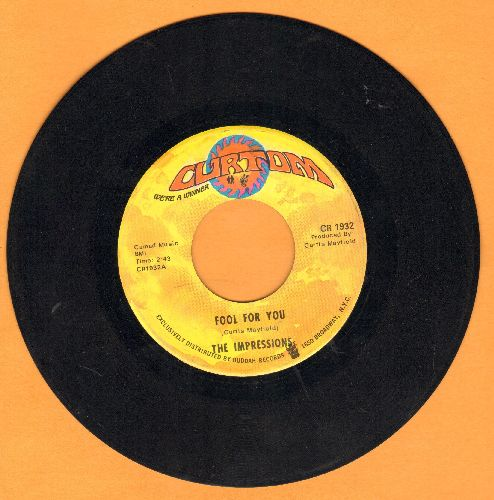 Impressions - Fool For You/I'm Loving Nothing - VG7/ - 45 rpm Records