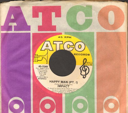Impact - Happy Man (Parts 1 + 2) (with Atco picture sleeve) - NM9/ - 45 rpm Records
