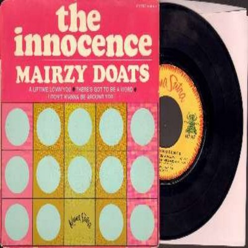Innocence - Mairzy Doats/There's Got To Be A Word/A Lifetime Lovin' You/I Don't Wanna Be Around You (Vinyl EP record French Pressing with picture cover) - VG7/VG7 - 45 rpm Records
