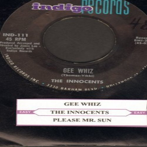 Innocents - Gee Whiz/Please, Mr. Sun (with juke box label) - EX8/ - 45 rpm Records