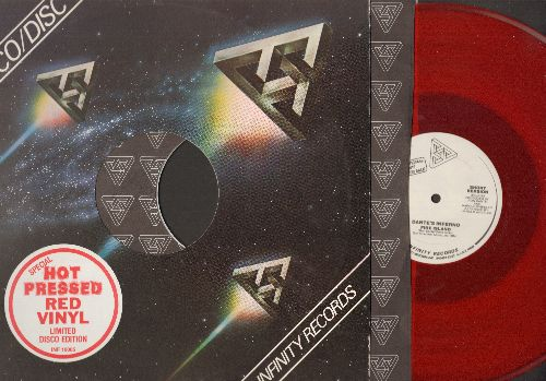 Dante's Inferno - Fire Island - RED Vinyl DJ advance pressing Maxi Single in MINT condition featuring LONG version (6:42) and SHORT version (3:45) of Disco Classic, with Infinity Company Cover and original Infinity inner paper sleeve. - M10/ - Maxi Single
