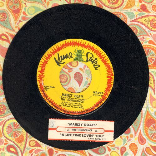 Innocence - Mairzy Doats/A Lifetime Lovin' You (with company sleeve) - NM9/ - 45 rpm Records