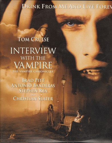 Interview With The Vampire - Interview With The Vampire - LASERDISC version of the Horror Classic starring Tom Cruise and Brad Pitt (This is a set of 2 LASERDISCS in gate-fold cover, not any other kind of media!) - M10/NM9 - LaserDiscs