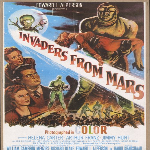 Invaders From Mars - Movie Poster - Invaders From Mars - Full Color 16 x 10.5 inch reproduced Movie Poster of the 1950s Cult Film - GREAT for framing!  - NM9/ - Poster
