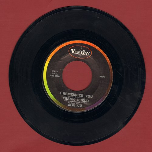 Ifield, Frank - I Remember You/I Listen To My Heart  - EX8/ - 45 rpm Records