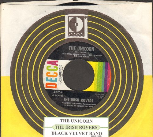 Irish Rovers - The Unicorn/Black Velvet Band (withjuke box label and  Decca company sleeve) - EX8/ - 45 rpm Records