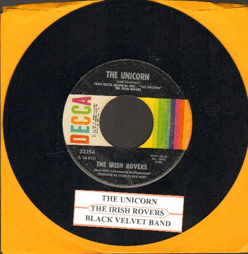 Irish Rovers - The Unicorn/Black Velvet Band (with juke box label) - EX8/ - 45 rpm Records