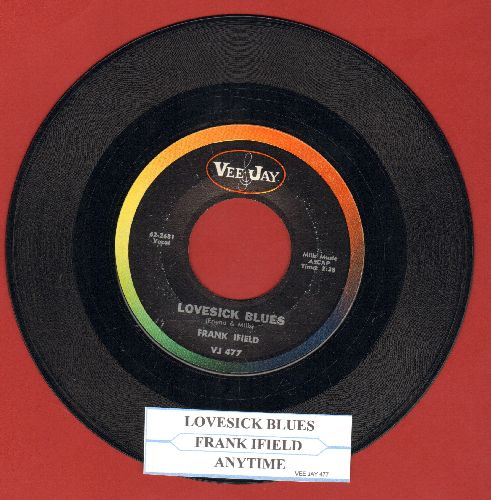 Ifield, Frank - Lovesick Blues/Anytime (with juke box label) - EX8/ - 45 rpm Records