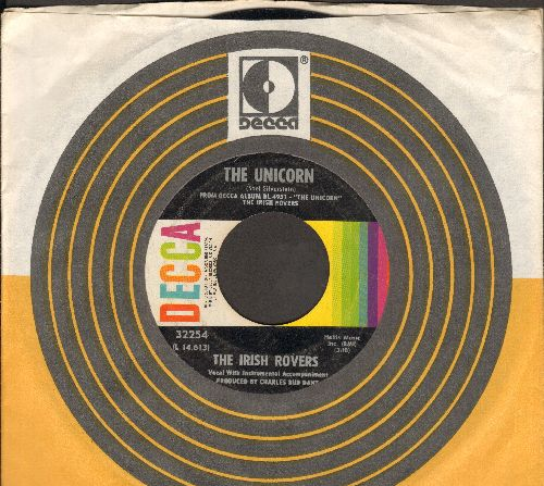 Irish Rovers - The Unicorn/Black Velvet Band (with Decca company sleeve) - NM9/ - 45 rpm Records