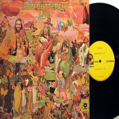 Iron Butterfly - Iron Butterfly Live: In-A-Gadda-Da-Vida, In The Time Of Our Lives, Filled With Fear, Are You Happy (Vinyl STEREO LP record) - VG6/VG6 - LP Records
