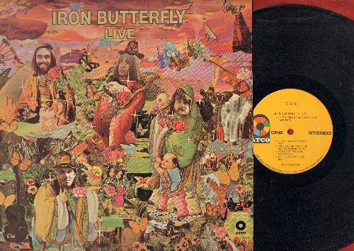 Iron Butterfly - Iron Butterfly LIVE: In-A-Godda-Da-Vida (19 minutes version), In The Time Of Our Lives, Are You Happy (Vinyl STEREO LP record, yellow label) - EX8/EX8 - LP Records