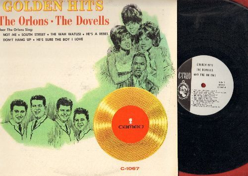 Orlons, Dovells - Golden Hits: The Wah Watusi, Bristol Stomp, South Street, You Can't Sit Down, Not Me, Hully Gully Baby (Vinyl MONO LP record, RARE white label DJ Pressing)) - EX8/EX8 - LP Records