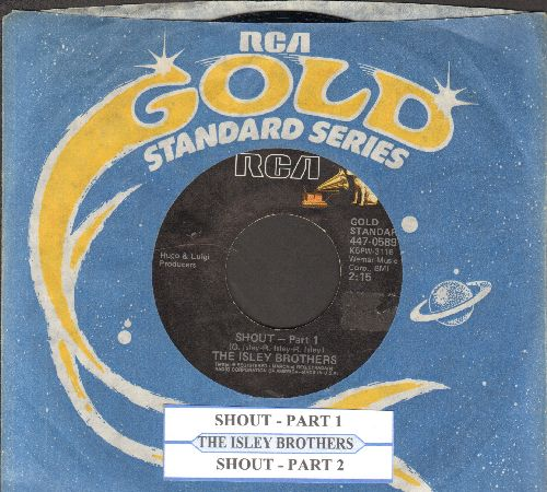 Isley Brothers - Shout (Part 1)/Shout (Part 2) (reissue with juke box label and company sleeve) - NM9/ - 45 rpm Records