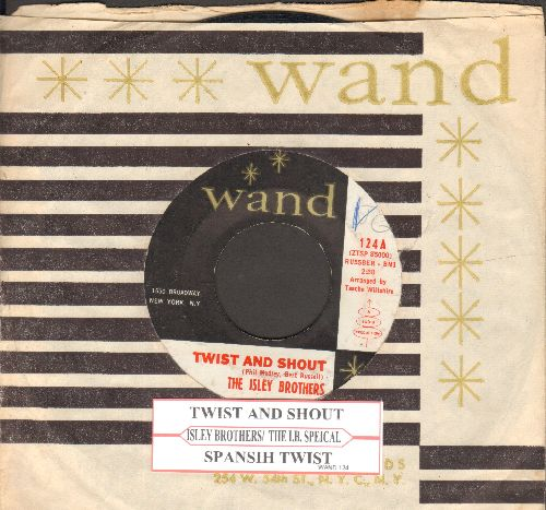 Isley Brothers - Twist And Shout/Spanish Twist (with vintage Wand company sleeve and  juke box label) - EX8/ - 45 rpm Records