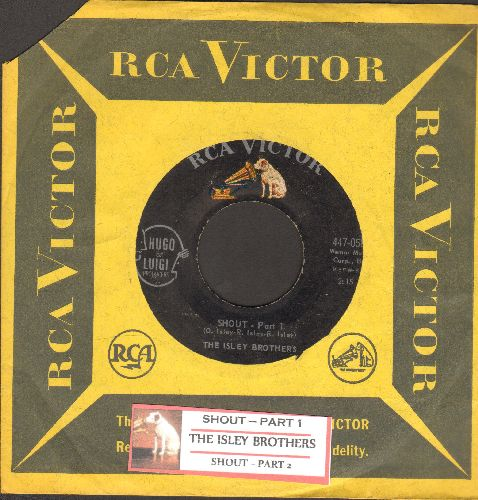 Isley Brothers - Shout (Part 1)/Shout (Part 2) (with juke box label and RCA company sleeve) - VG6/ - 45 rpm Records