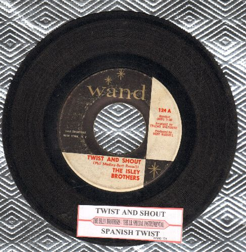 Isley Brothers - Twist And Shout/Spanish Twist (with juke box label) - VG7/ - 45 rpm Records