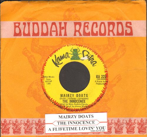 Innocence - Mairzy Doats/A Lifetime Lovin' You (with juke box label and Buddah company sleeve) - EX8/ - 45 rpm Records