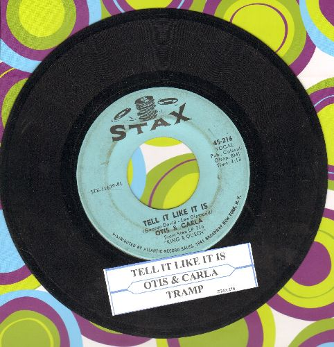 Otis & Carla - Tell It Like It Is/Tramp (with juke box label) - EX8/ - 45 rpm Records