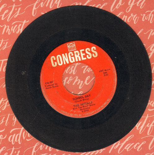 Initials - School Day/The Song Is Number One - VG6/ - 45 rpm Records