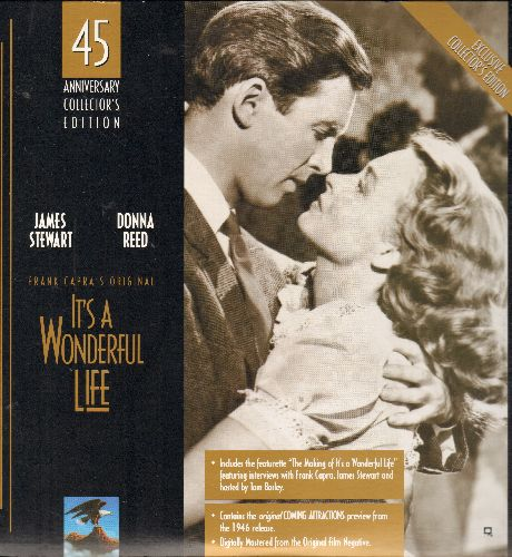 It's A Wonderful Life - It's A Wonderful Life - 45th Anniversary Edition on 2 LASER DISCS, includes BONUS features! (These are LASER DISCS, not any other kind of media!) - NM9/NM9 - LaserDiscs
