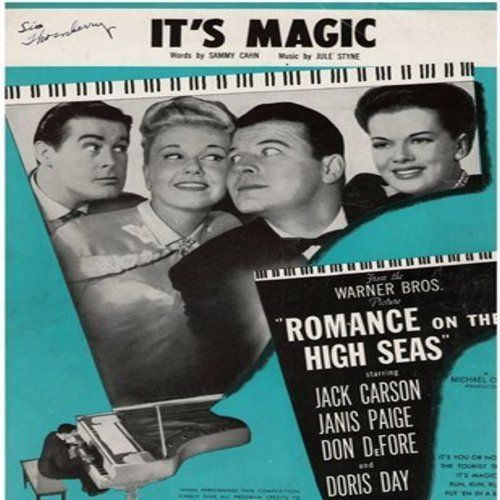 Day, Doris - It's Magic - Original SHEET MUSIC for the song made popular by Doris Day. Beautiful piece of American Nostalgia! (THIS IS SHEET MUSIC, NOT ANY OTHER KIND OF MEDIA! Shipping rate same as 45rpm record) - EX8/ - Sheet Music