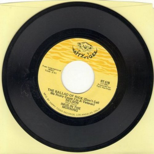 Imus, Don (Imus In The Morning) - From Adam's Rib To Women's Lib/The Ballad Of Rick (Don't Call Me Ricky Cause I'm A Veteran) (RARE Novelty Record) - NM9/ - 45 rpm Records