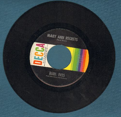 Ives, Burl - Mary Ann Regrets/How Do You Fall Out Of Love  - EX8/ - 45 rpm Records